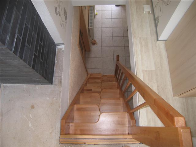 Draufsicht: Auftrittsvorteil mit geschweiften Stufen