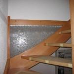 Glasfüllung statt eines zusätzlichen Geländers